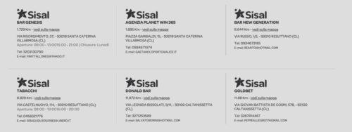 esempi di punti vendita sisalpay