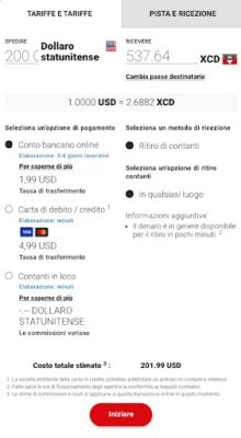 conversione dollari usa in dollari antigua con moneygram