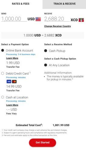 trasferimento dollari americani in antigua con carta di credito
