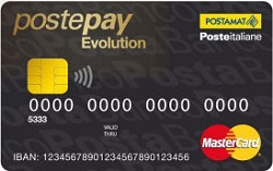 carta postepay evolution black