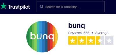 valutazione bunq trustpilot marzo 2020