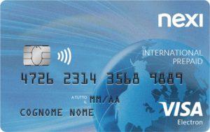 esempio di carta nexi internationl