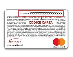 dove trovare il codice della carta epipoli mastercard