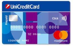 esempio carta prepagata unicreditcard click
