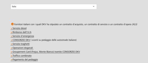 servizi italia dkv card