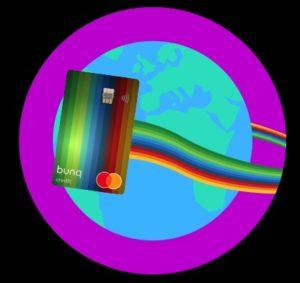 esempio grafica bunq travel card