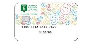 carta di debito banca 5