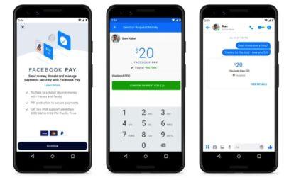 schermata facebook pay