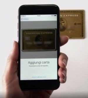 carta oro amex apple pay