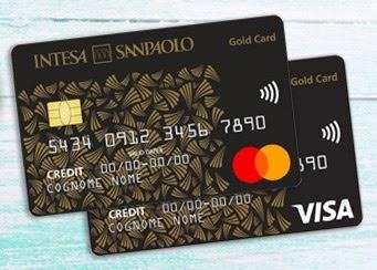 immagine carta Gold Card Visa e Mastercard