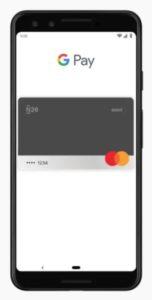 schermo cellulare con simbolo google pay